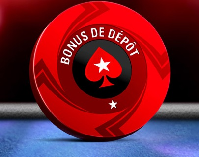 Bonus de dépôt PokerStars